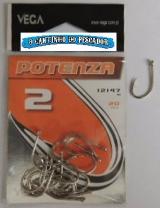 Anzol Potenza 12147 Nickel no. 02 cartela c/20 peças