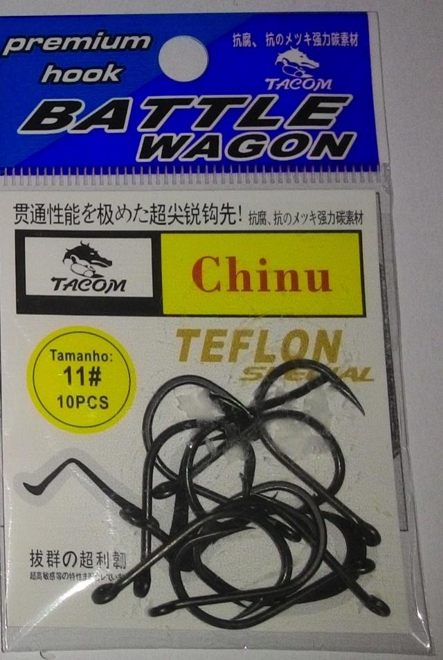 Anzol Tacom chinu revestido com teflon