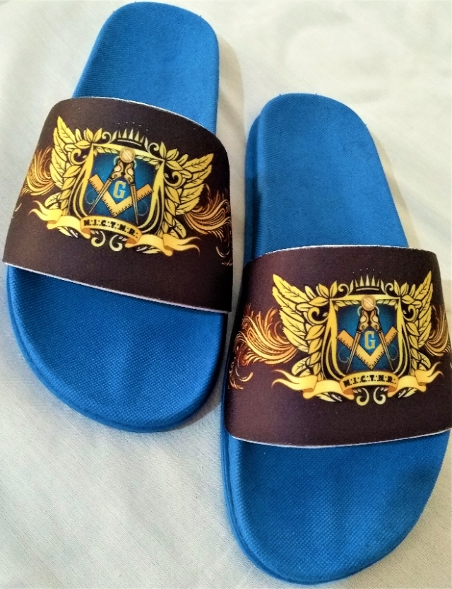 Chinelo Slide Maçom Azul