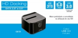 Docking Station Para Hd 2,5''/3,5' Sata' - 1 Baia - Ga125