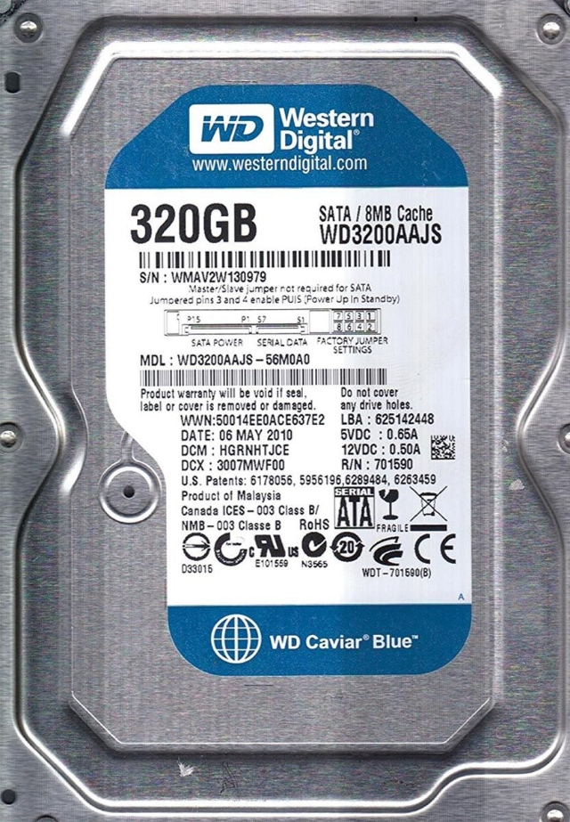 HD 320GB WD Desktop novo lacrado