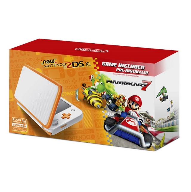 Nintendo New 2DS XL Bundle Mario Kart 7 - White Orange
