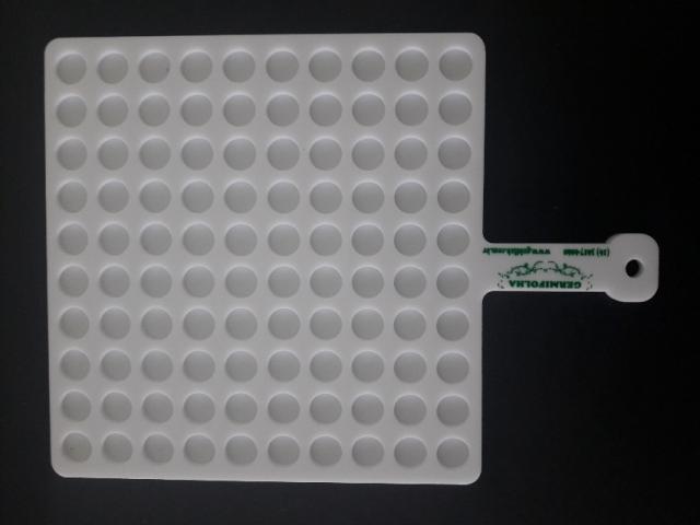 Contador Em Acrilico Para 100 Sementes De Milho 13mm - Germifolha
