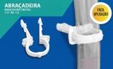 Abraçadeira Para Mangueira Cristal 1/2 50 Unidades - Branca