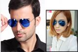 Óculos azul espelhado Aviador Unissex
