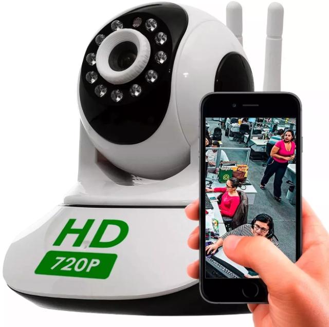 Câmera Ip Wifi Sem Fio Gravação em Cartão SD