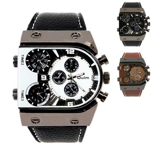 89578374086 Relógio Quartz de pulso esportivo pulseira de couro por R 99