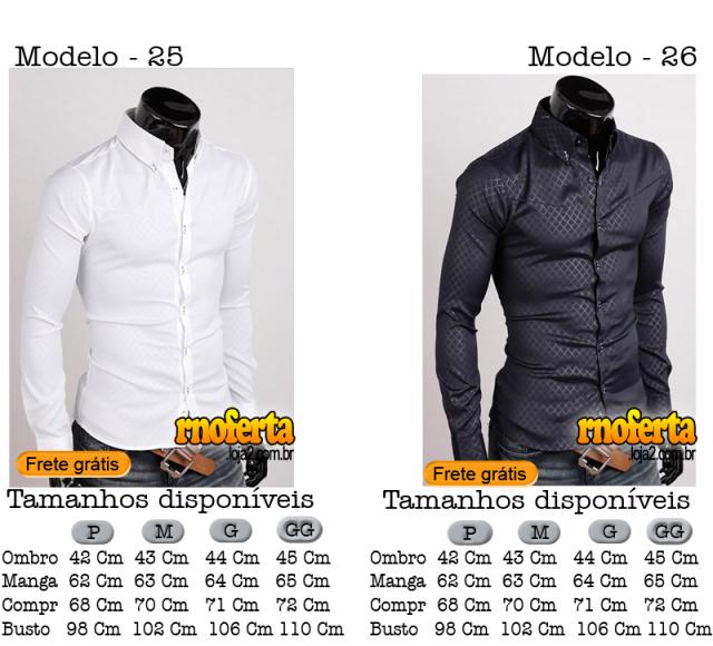 Camisa Social Slim Fit Importada Frete Grátis Brasil por R 69 1b8f7c71590ab