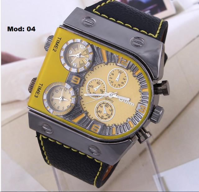 c2a3a9eccab Relógio Quartz de pulso pulseira de couro Frete Grátis por R 99