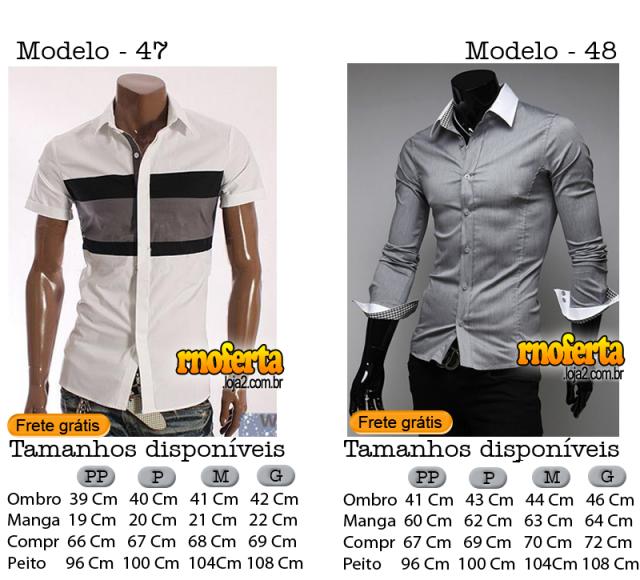 Camisa Social Slim Fit Importada com Frete Grátis Brasil 4e3b2fffceb55
