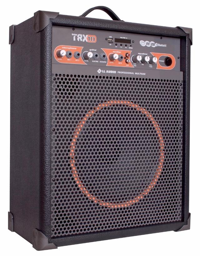 Caixa  amplificada Multiuso TRX 10 com usb, bluetooth e rádio FM