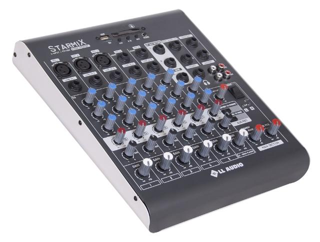 Mesa de som LL XMS 602 mn, 6 canais com usb, bluetooth e rádio fm?cache=2019-02-22