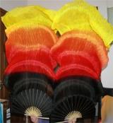 Fan Véu Leque cor fogo Degrade 4 cores, Pronta Entrega