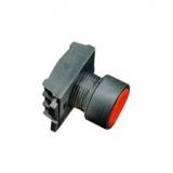 Botão de comando faceado, plástico, sem retenção, p/ furos 22mm, branco