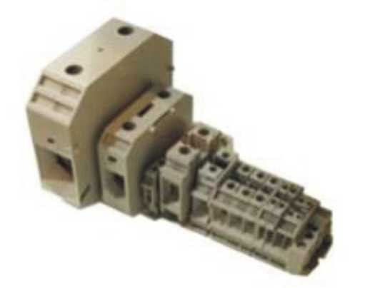 Conector de passagem JUT 2-2,5 para cabos até 2,5 mm