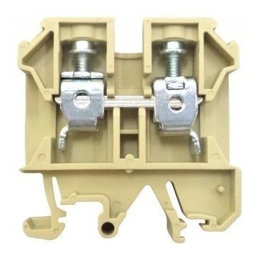 borne de passagem JUT 2-2,5 para cabos até 2,5 mm bege