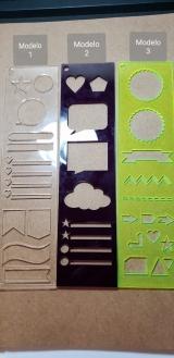 Régua Desenhos Modelo 1 - Verde transparente