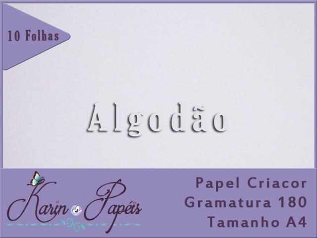 Criacor Algodão (Branco) - 180A4 - Pacote com 10 folhas