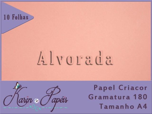 Criacor Alvorada (Rosa Chá) - 180A4 - Pacote com 10 folhas