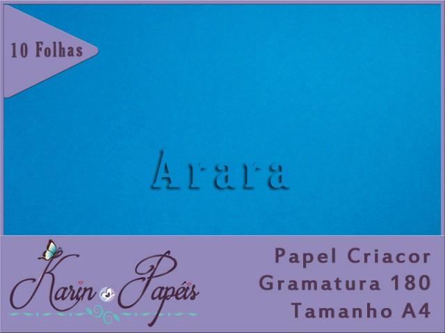 Criacor Arara (Azul Royal)- 180A4 - Pacote com 10 folhas