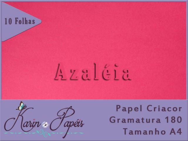 Criacor Azaléia (Pink) - 180A4 - Pacote com 10 folhas