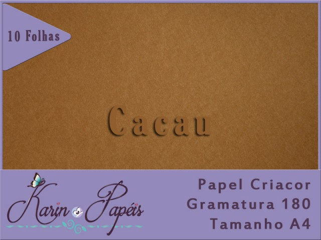 Criacor Cacau (Marrom Claro) - 180A4 - Pacote com 10 folhas