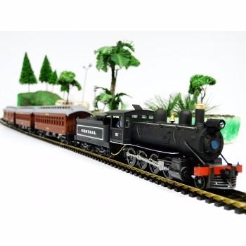 Conjunto Trem de Passageiros Vapor EFCB # 6510 - FRATESCHI