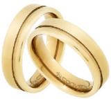 Par Aliança Aço convex gold 6,0 mm Horus