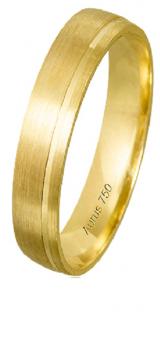 Aliança ouro 18K 4,5 mm Cassis