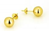 Brinco em Ouro 18k Bola 7 mm