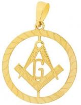 Pingente em Ouro 18k simbolo maçon