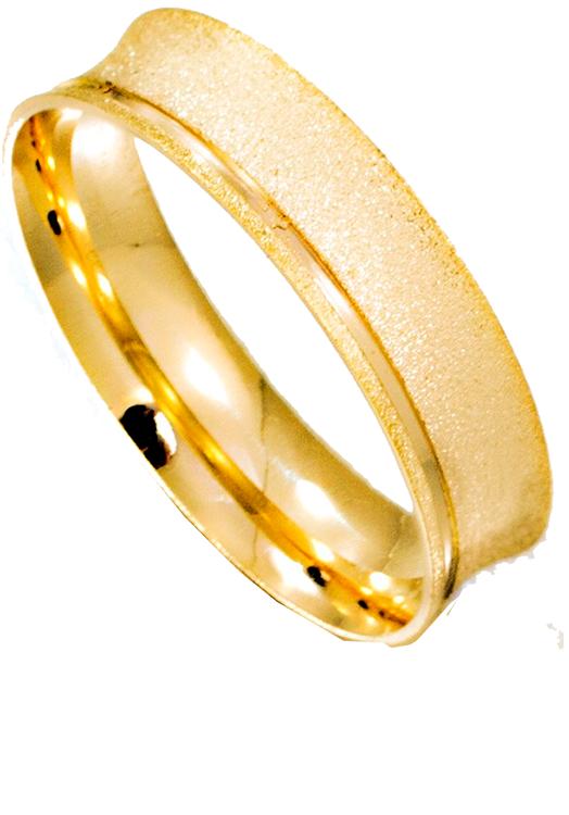 Alianca ouro 18k 5,0 mm Larissa