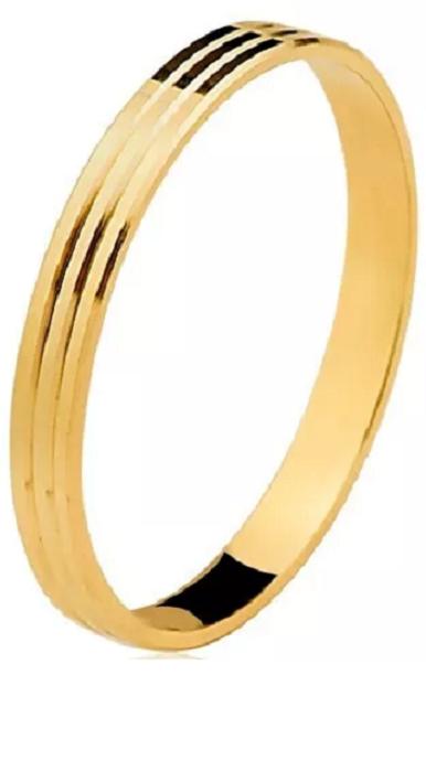 Aliança ouro 18k 2,4 mm Ausacia