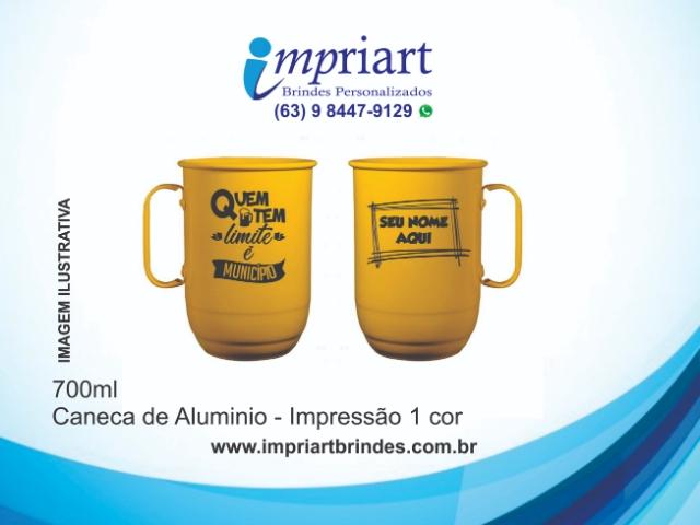 CANECA DE ALUMÍNIO SEM TIRANTE