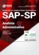 Apostila Sap Sp 2018 - Analista Administrativo Ed Nova