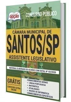 Apostila Concurso Câmara de Santos 2020 ASSISTENTE LEGISLATIVO - OPÇÃO