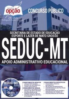 Apostia SEDUC MT 2017 APOIO ADMINISTRATIVO EDUCACIONAL - Ed Opção
