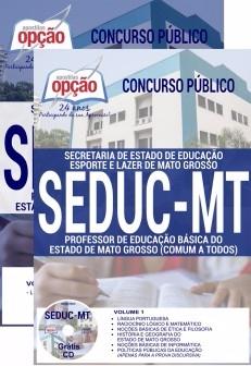 Apostia SEDUC MT 2017 PROFESSOR DE EDUCAÇÃO BÁSICA (COMUM A TODOS OS CARGOS) - Ed Opção