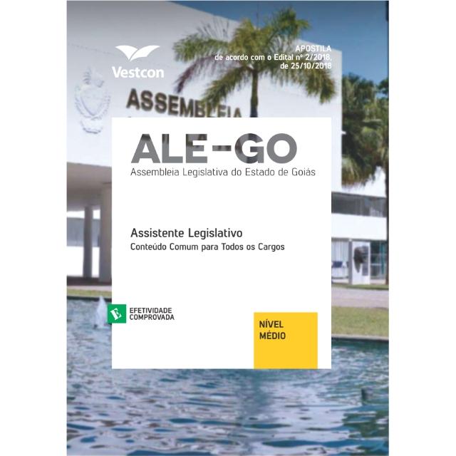 Apostila ALEGO Assembléia Legislativa de Goiás Assistente Legislativo Conhecimentos Básico Vestcon