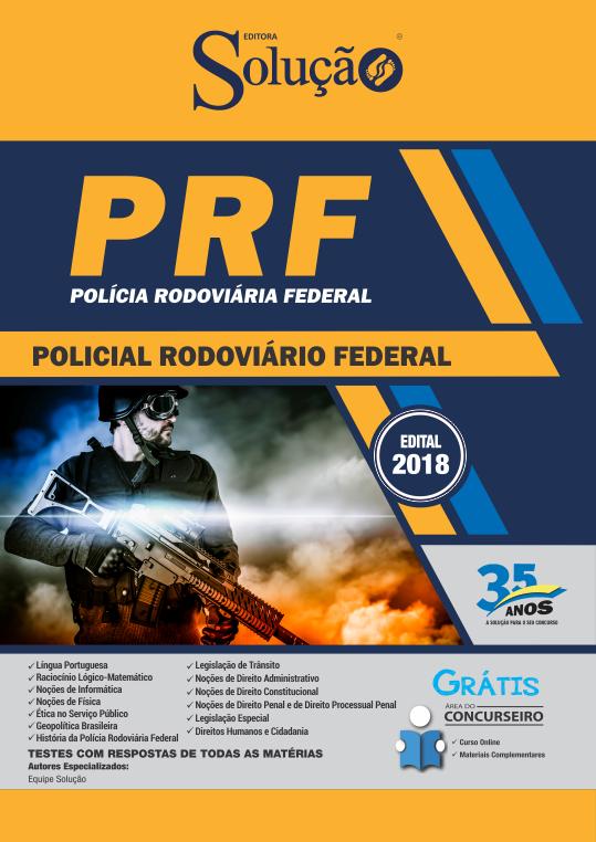 Apostila Concurso Policial Rodoviário Federal 2018 - PRF  - Ed. Solução