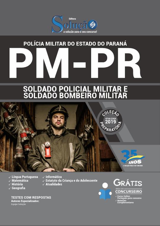 Apostila Polícia Militar Do Paraná Pm Pr - Ed Solução