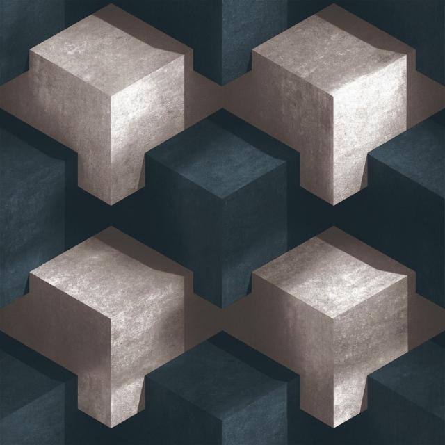 Papel de parede  lançamento importado geométrico 3D ,super lavável cod:LFT370604