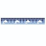 FAIXA REPARATIVA PARA BORDA DE PISCINAS DE VINIL OU FIBRA REF stf15 largura de 10 cm golfinhos
