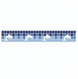FAIXA REPARATIVA PARA BORDA DE PISCINAS DE VINIL OU FIBRA REF stf15 largura de 15 cm golfinhos