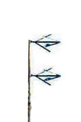 Antena Dipolo em V Omni 2 elementos + divisor  25 W a 1KW