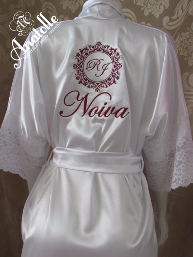 Robe Noiva - Bordado com brasão