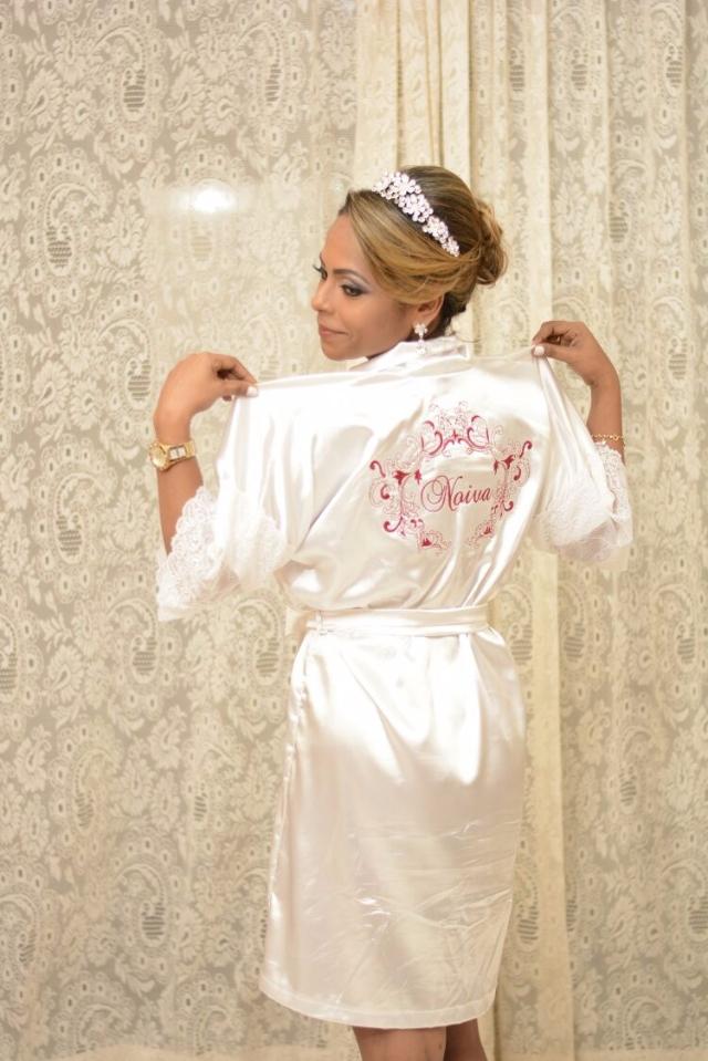 Robe Bordado Brasão Noiva