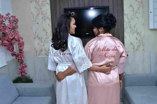 Kit Noiva e Mãe da Noiva - Robes com renda