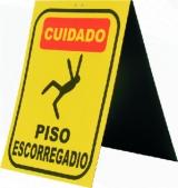 Placa De Sinalização (Piso Escorregadio)