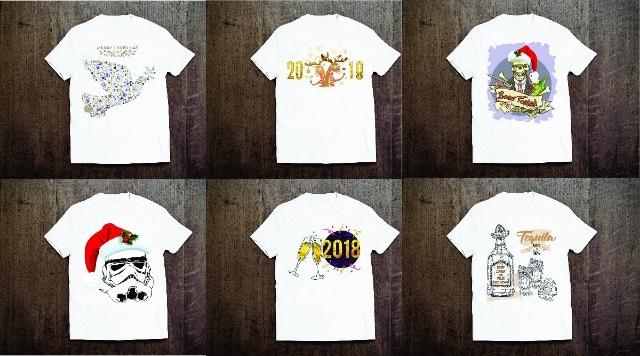 Camisetas natal e ano novo